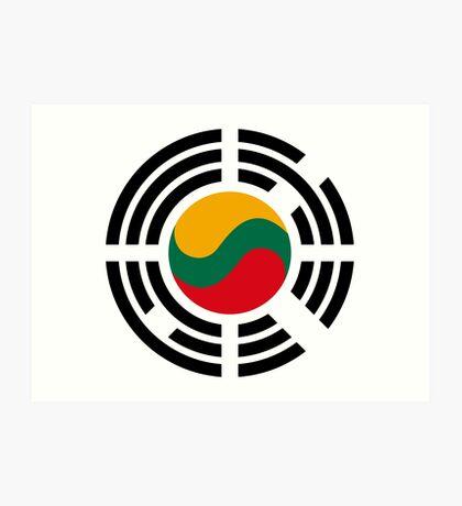 Korean Lithuanian Multinational Patriot Flag Series Art Print