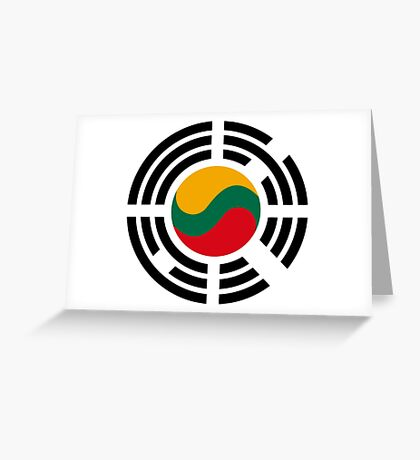 Korean Lithuanian Multinational Patriot Flag Series Greeting Card