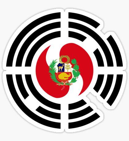 Korean Peruvian Multinational Patriot Flag Series Sticker