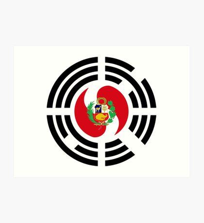 Korean Peruvian Multinational Patriot Flag Series Art Print