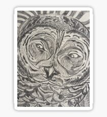 Barred Owl Etching Sticker