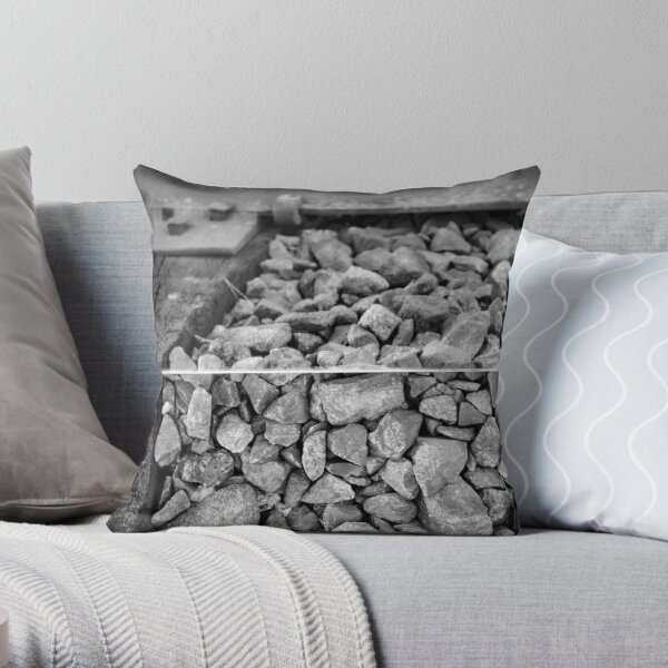 Rocks and a Hard Place Throw Pillow