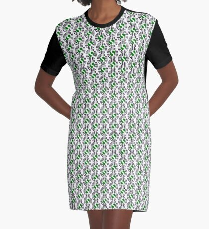 Korean Nigerian Multinational Patriot Flag Series Graphic T-Shirt Dress