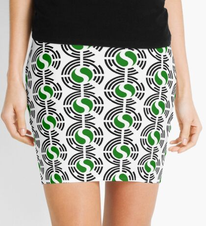Korean Nigerian Multinational Patriot Flag Series Mini Skirt