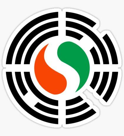 Korean Ivory Coast Multinational Patriot Flag Series Sticker