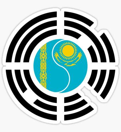 Korean Kazakhstan Multinational Patriot Flag Series Sticker