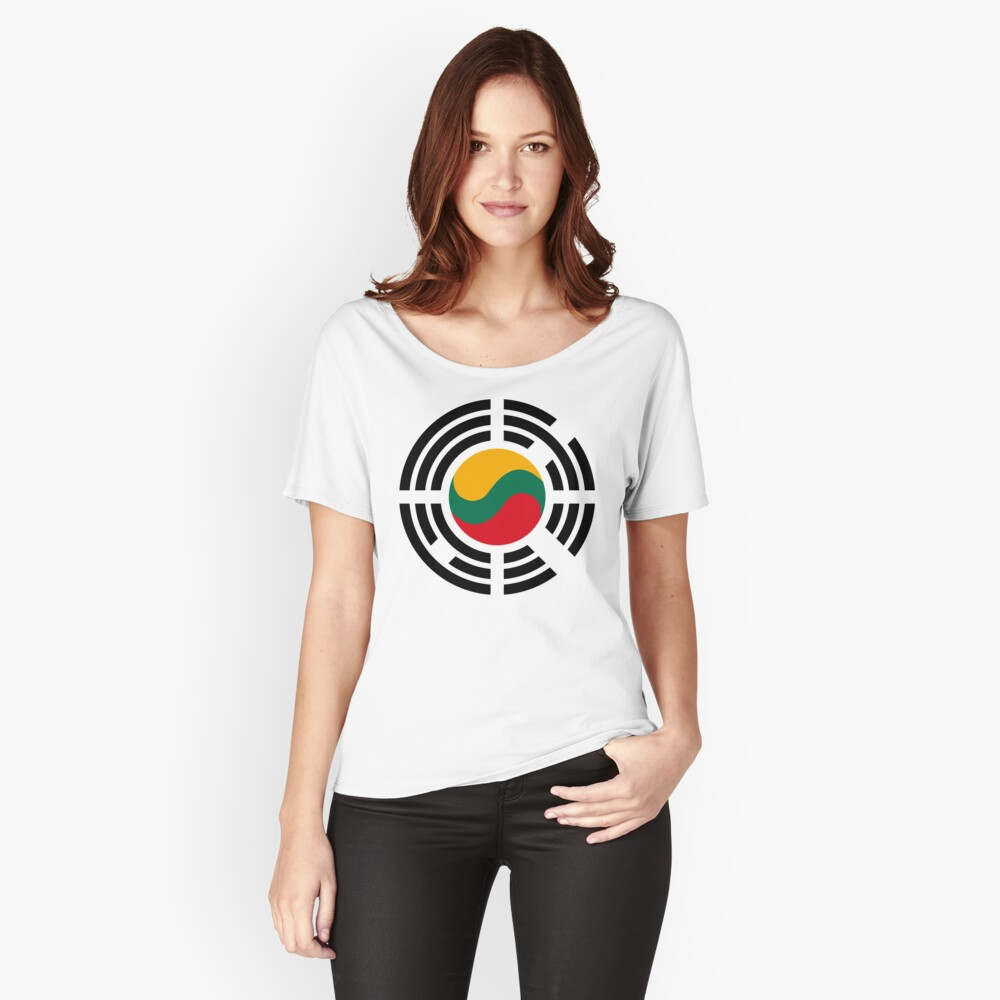 Korean Lithuanian Multinational Patriot Flag Series Relaxed Fit T-Shirt