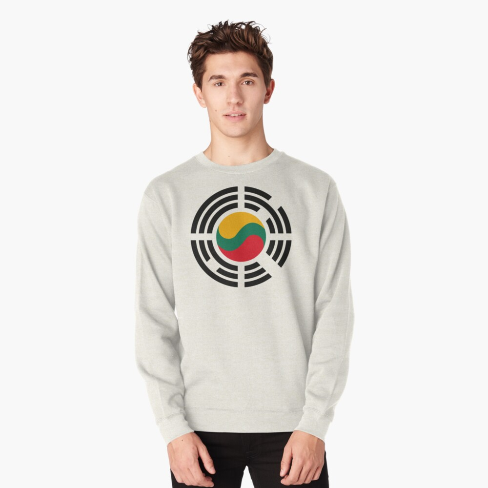 Korean Lithuanian Multinational Patriot Flag Series Pullover Sweatshirt