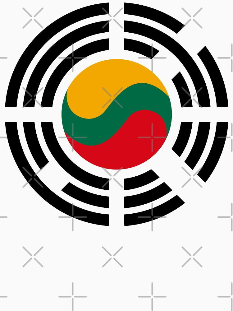 Korean Lithuanian Multinational Patriot Flag Series by carbonfibreme