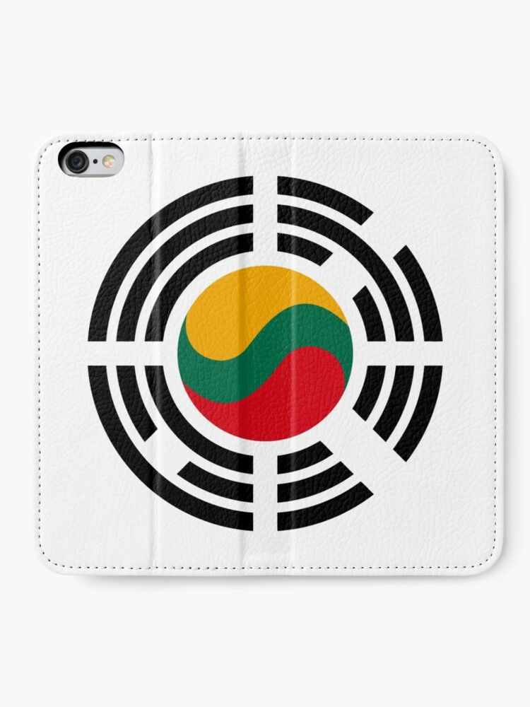 Alternate view of Korean Lithuanian Multinational Patriot Flag Series iPhone Wallet