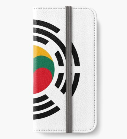 Korean Lithuanian Multinational Patriot Flag Series iPhone Wallet