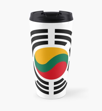 Korean Lithuanian Multinational Patriot Flag Series Travel Mug