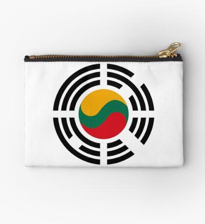Korean Lithuanian Multinational Patriot Flag Series Zipper Pouch