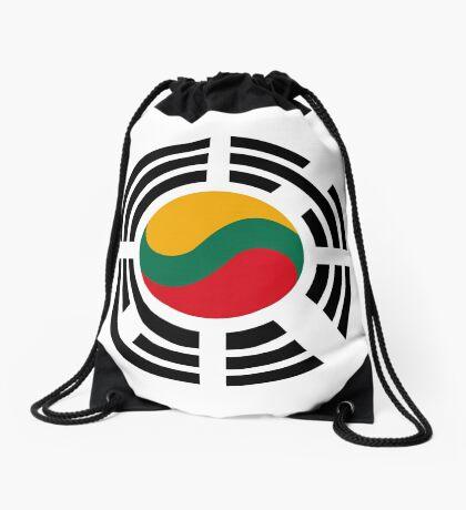 Korean Lithuanian Multinational Patriot Flag Series Drawstring Bag