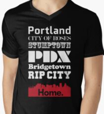 Portland Is My Home. Men's V-Neck T-Shirt