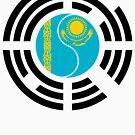 Korean Kazakhstan Multinational Patriot Flag Series by Carbon-Fibre Media