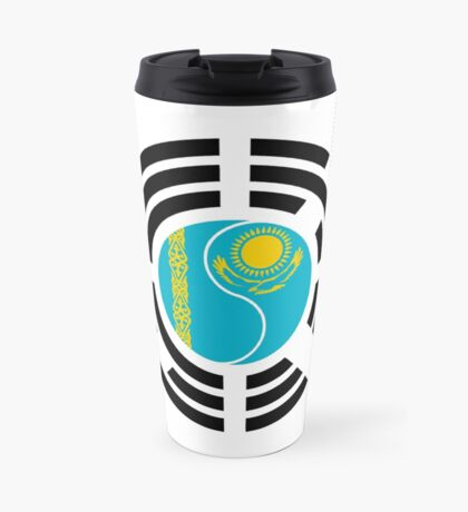 Korean Kazakhstan Multinational Patriot Flag Series Travel Mug