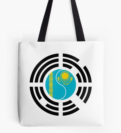 Korean Kazakhstan Multinational Patriot Flag Series Tote Bag