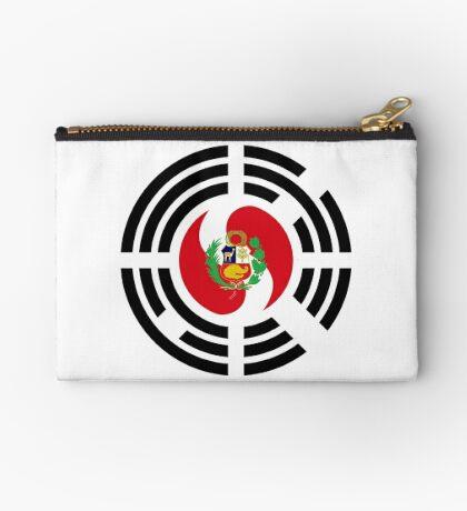 Korean Peruvian Multinational Patriot Flag Series Zipper Pouch