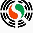 Korean Ivory Coast Multinational Patriot Flag Series by Carbon-Fibre Media