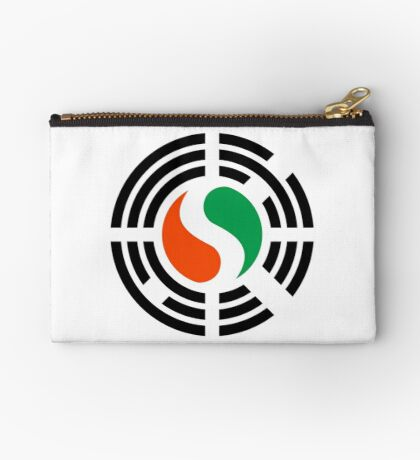 Korean Ivory Coast Multinational Patriot Flag Series Zipper Pouch