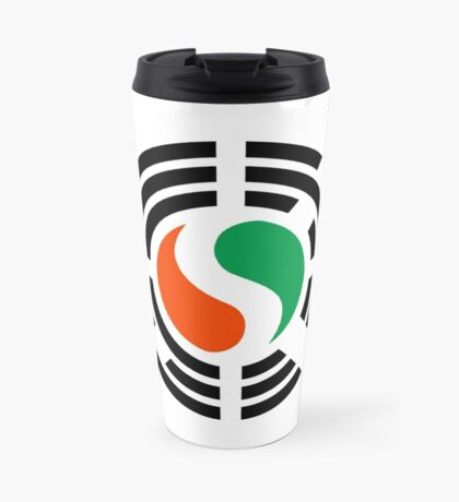 Korean Ivory Coast Multinational Patriot Flag Series Travel Mug