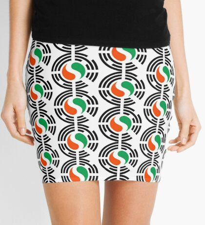 Korean Ivory Coast Multinational Patriot Flag Series Mini Skirt