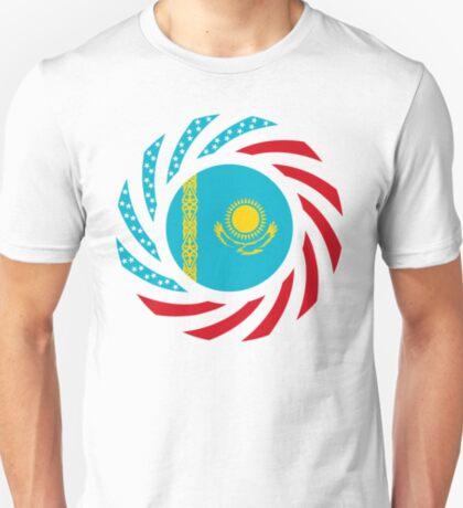 Kazakhstani American Multinational Patriot Flag Series T-Shirt