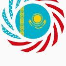Kazakhstani American Multinational Patriot Flag Series by Carbon-Fibre Media
