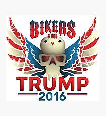 Bikers for Trump Photographic Print