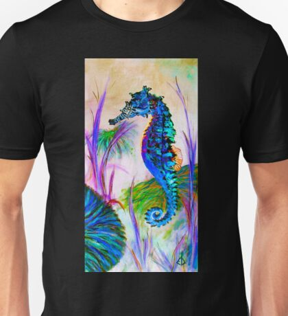 Rainbow Seahorse Inverted T-Shirt
