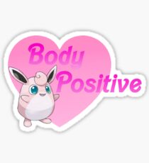 Body Positive Wigglytuff Sticker