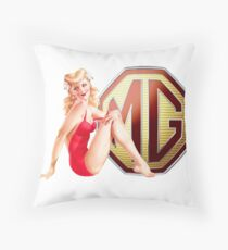 MG Retro Pin up girl Throw Pillow