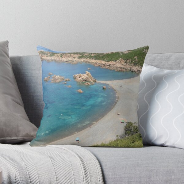 Cala Tinnari - Sardinia, Italy Throw Pillow