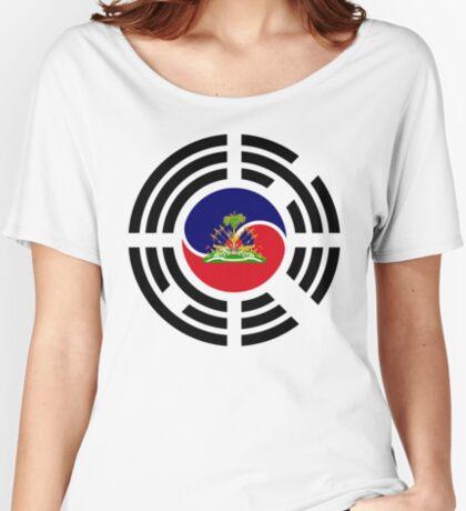Korean Haitian Multinational Patriot Flag Series Relaxed Fit T-Shirt