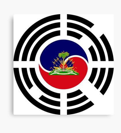 Korean Haitian Multinational Patriot Flag Series Canvas Print