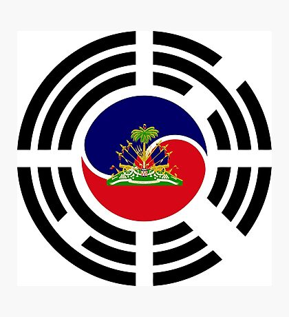 Korean Haitian Multinational Patriot Flag Series Photographic Print