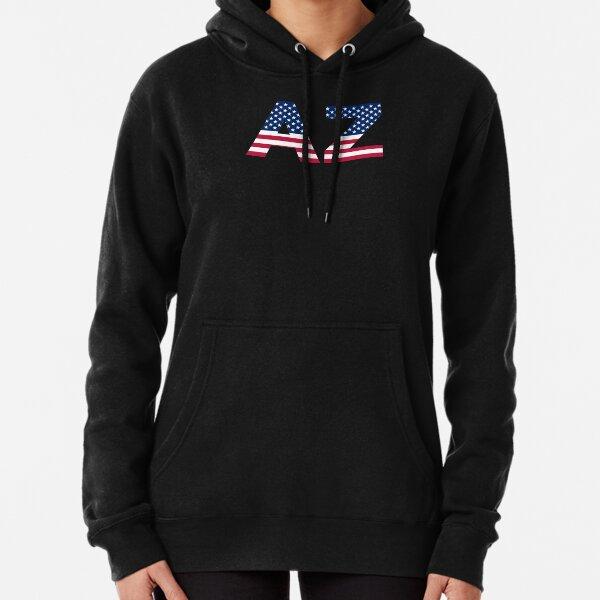 Arizona AZ State American Flag USA Full-Zip Hooded Jacket