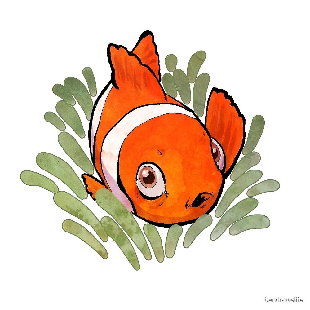 Lil' Clownfish by bendrawslife