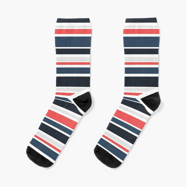 Salmon winter stripes Socks