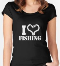 I love Fishing Women's Fitted Scoop T-Shirt