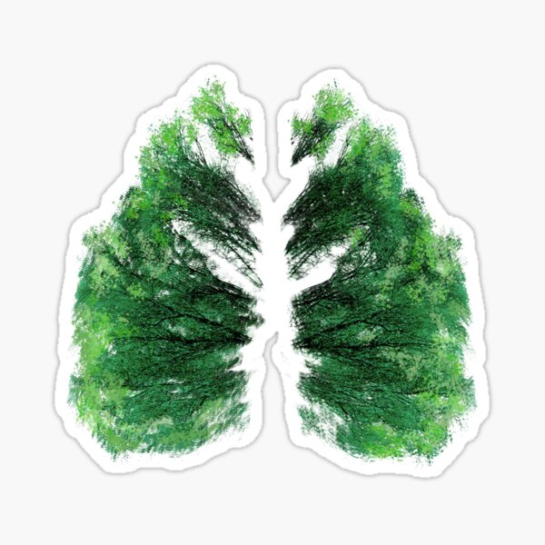 Natures Breath Green Sticker