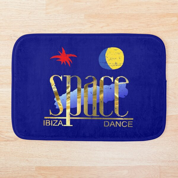SPACE Ibiza Dance: MODEL 2 vintage night blue gold gold Mythical nightclub of La French Touch Bath Mat