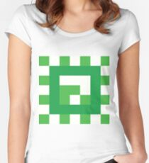 Green Block of Weight Women's Fitted Scoop T-Shirt