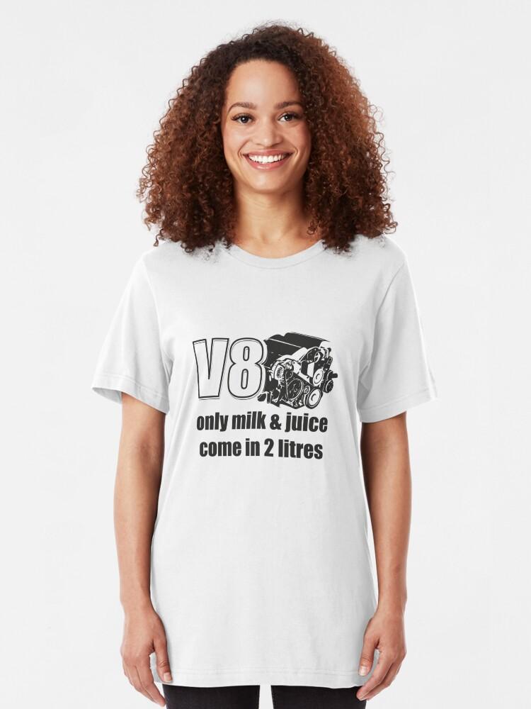 V8 Powered Only Milk /& Juice in 2 liters Muscle Cars Racing Sweatshirt