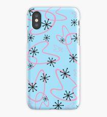 Starburst Atomic - Auqa/Pink iPhone Case/Skin