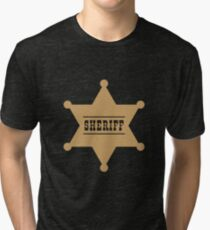 Sheriff's Star Tri-blend T-Shirt