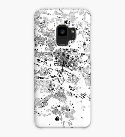 Glasgow Map Schwarzplan Only Buildings Urban Plan Case/Skin for Samsung Galaxy