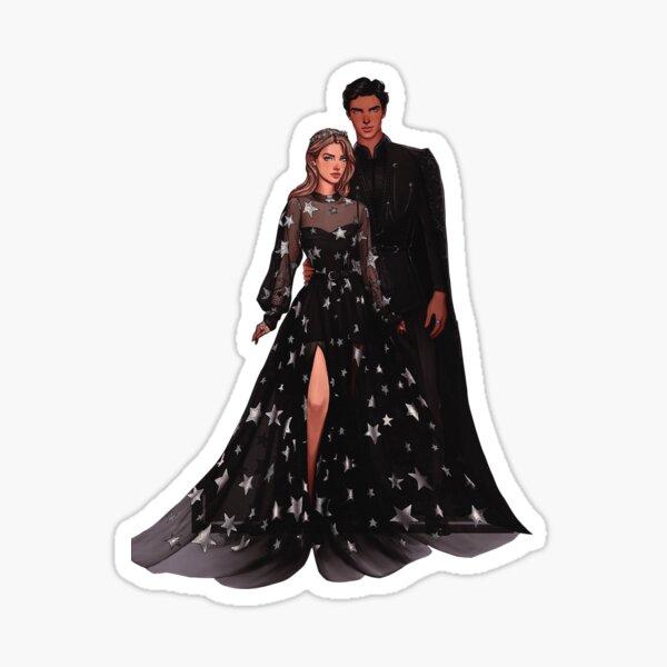 Feyre and Rhysand fanart. Sticker