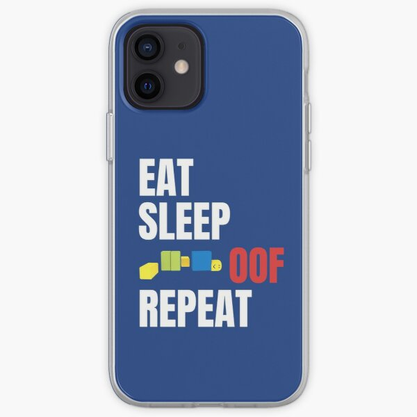 Roblox Oof! Gaming Noob Eat Sleep Oof Repeat iPhone Flexible Hülle